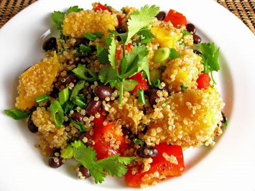 Mango and Black Bean Quinoa Salad on Closet Cooking