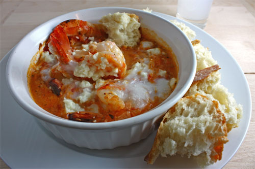 Garides Saganaki (Shrimp Saganaki)