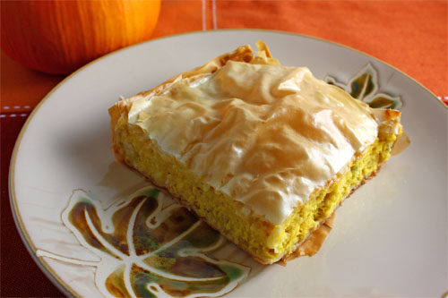 Savoury Pumpkin Pie (Kolokithopita)