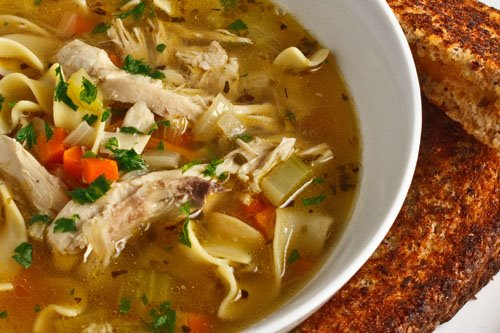 ... sick to indulge in the ultimate sick day treat chicken noodle soup