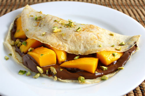 Mango and Nutella Crepes