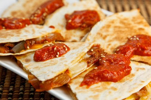 Kimchi Quesadillas