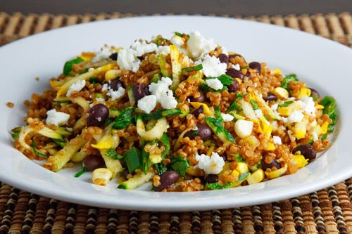 Zucchini and Corn Taco Seasoned Quinoa Salad