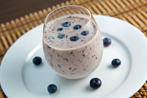 Blueberry Maple Oatmeal Smoothie