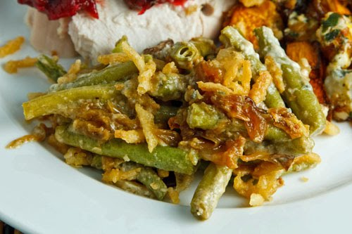 Blue Cheese Green Bean Casserole on Closet Cooking