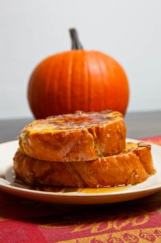 Pumpkin Pie French Toast on Closet Cooking