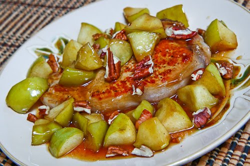 Caramel Apple Pork Chops on Closet Cooking