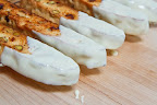 Cranberry and Pistachio Biscotti Dipped in White Chocolate