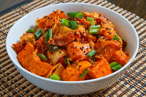 Kimchi Sweet Potato Salad