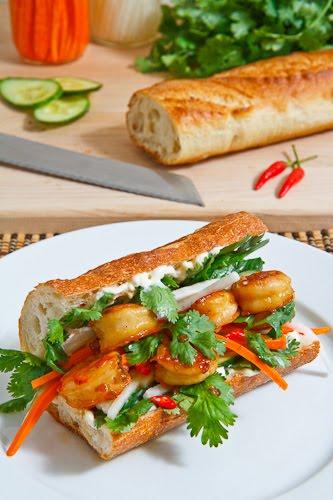 Vietnamese Caramel Shrimp Banh Mi on Closet Cooking