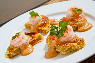 Fried Green Tomatoes with Shrimp Remoulade on Closet Cooking