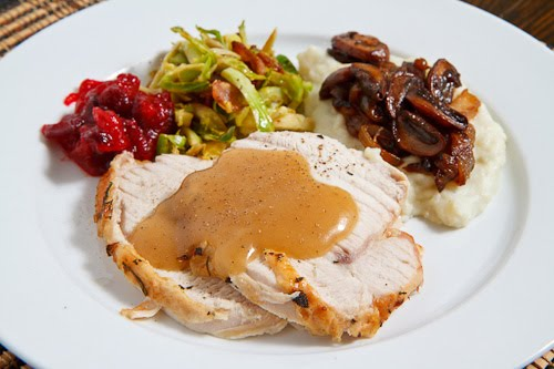 Herb-Roasted Turkey Breast And Stuffing (Thanksgiving For ...