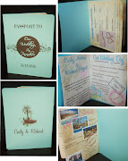 . was created with old paper inner pages and soft colorful beach clipart.