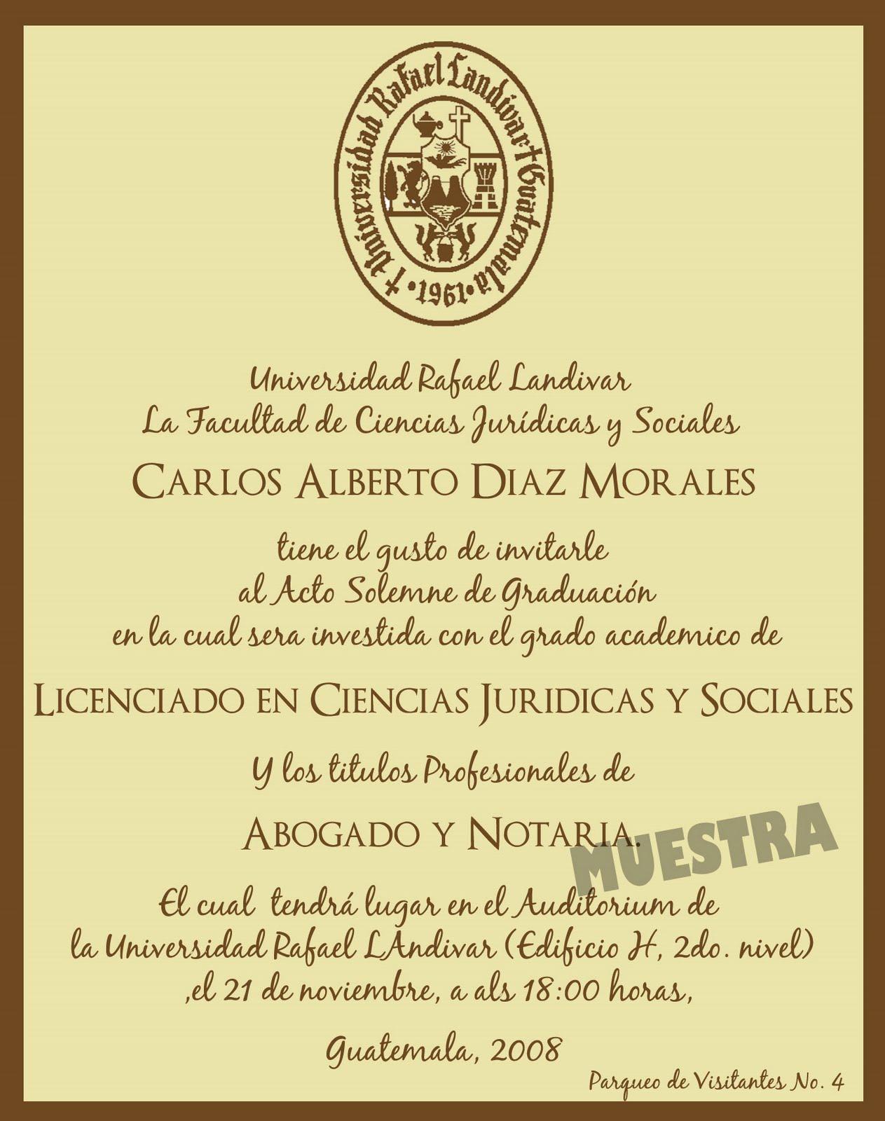 Invitaciónes de graduación de universidad - Imagui