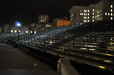 Grand stands for Virginia's inauguration