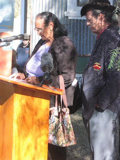 Elder Elizabeth Connor welcomes those present at Gamilaroi Country; and Lyall Munro