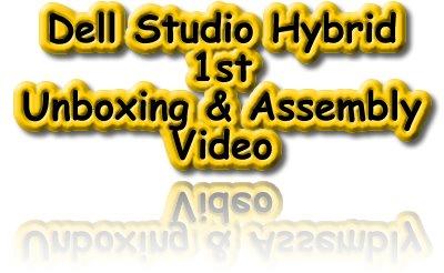 Dell Studio Hybrid, Desktop, Unboxing, Assembly