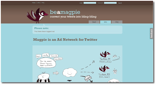 Magpie, Twitter, Ad Network, How to make money, Monetizing