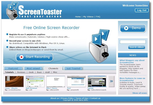 Make money from, videos, screencasts, screentoaster
