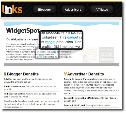 Text-Link-Ads alternative, buy links, sell links, InLinks