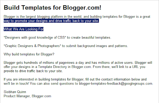 Work, shoot pictures and design Blogger templates for Blogger