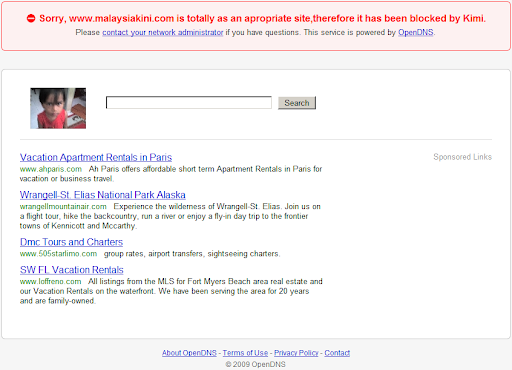 Malaysiakini is an appropriate site but blocked by OpenDNS?!