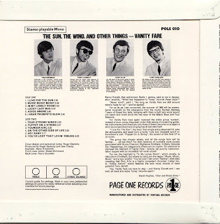 VANITY FARE - THE SUN THE WIND & OTHER THINGS (PAGE ONE 1968) Jap mastering cardboard sleeve + 11 bonus