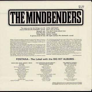 THE MINDBENDERS - MINDBENDERS (FONTANA 1966) Jap mastering cardboard sleeve + 10 bonus