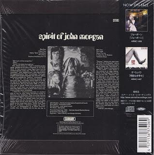 SPIRIT OF JOHN MORGAN - S/T (CARNABY 1969) Jap mastering cardboard sleeve + 1 bonus