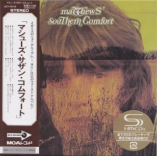 IAN MATTHEWS - MATTHEWS' SOUTHERN COMFORT (UNI 1970) Jap mastering cardboard sleeve + 1 bonus