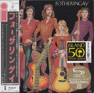 FOTHERINGAY - FOTHERINGAY (ISLAND 1970) Jap mastering cardboard sleeve + 7 bonus