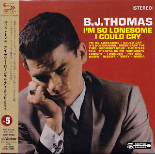 B.J. THOMAS - I'M SO LONESOME I COULD CRY (SCEPTER 1966) Jap mastering cardboard sleeve + 5 bonus