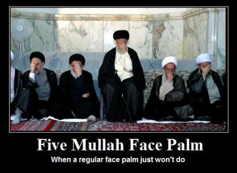 Ignoring the rules despite several warnings Five-Mullah-Facepalm