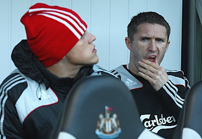 Robbie Keane of Liverpool sits on the bench during the game against Newcastle. Despite being in decent form, Keane was not called off the bench by Reds boss Rafa Benitez.