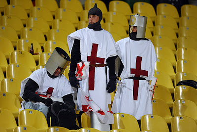 England's fans are pictured during their Group C first round 2010 World Cup football match on June 12, 2010 at Royal Bafokeng stadium in Rustenburg.The match ended in a 1-1 draw.