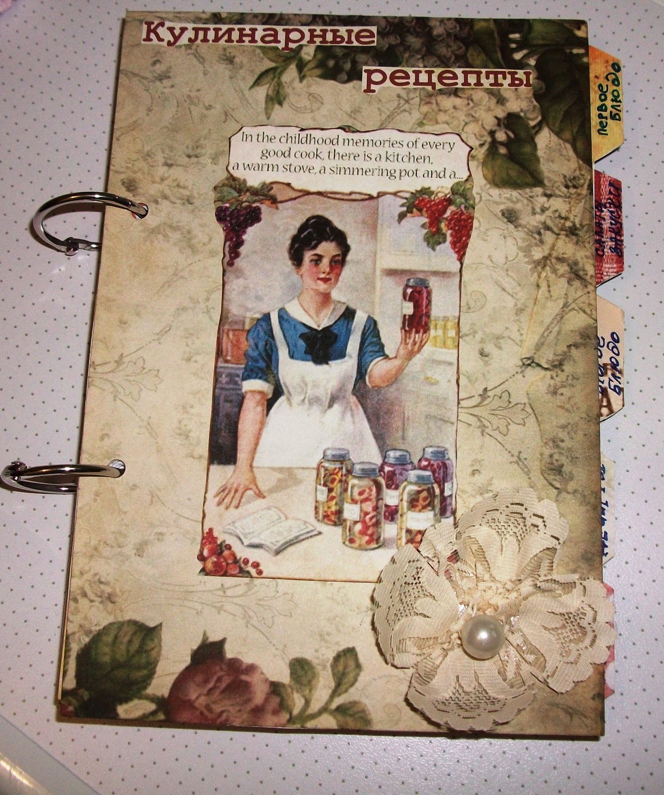Кулинарную книгу своими руками