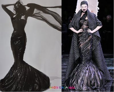 Lady Gaga In Alexander McQueen Dress For MTV 2010 VMAs - StyleFrizz