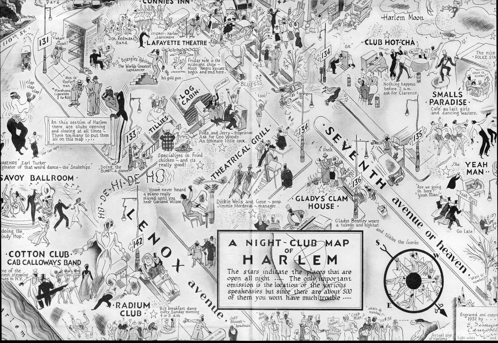 H A R L E M  B E S P O K E  REMEMBERThe 1932 Night Club Map