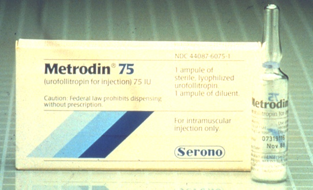Metrodin ... open their fingers as they mixed individual doses of fertility drugs.
