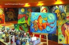 Pinceles, Pinturas y Cuadros