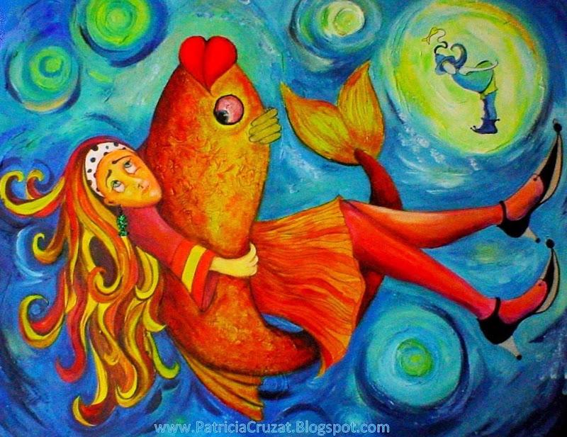 Patricia cruzat rojas abrazo pez - Cuadros con peces ...