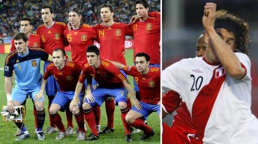 España lidera el ránking FIFA y Perú al fondo (2011)