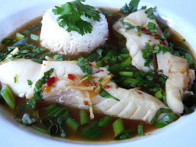 Halibut In An Asian Style Broth