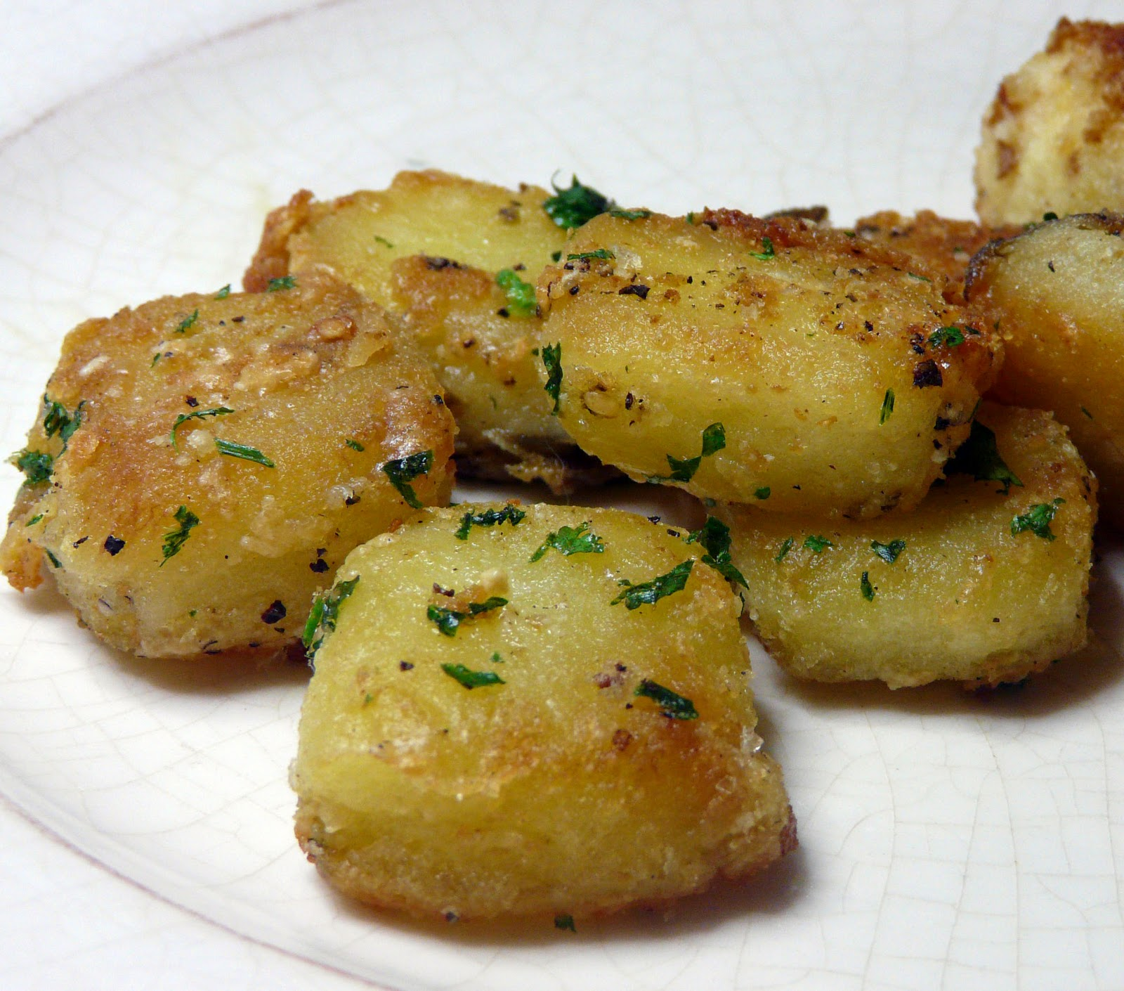 garlic roasted potatoes adapted slightly from let s dish potatoes ...