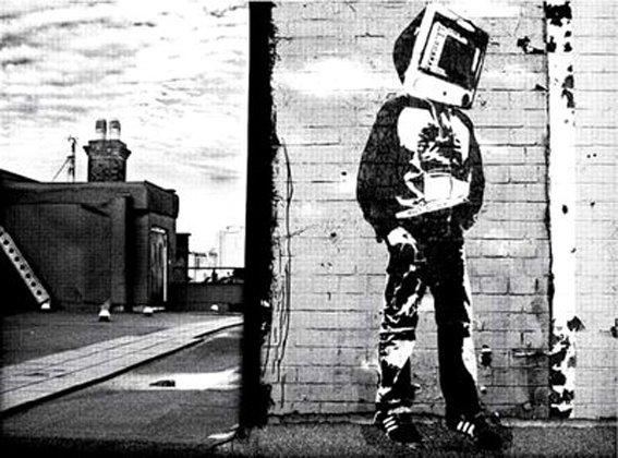 HUMANO CABEZA DE TV