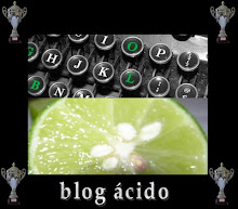 """Premio """"Blog Acido"""", concedido por Luis Petit de """"El Cachorro Criollo"""""""