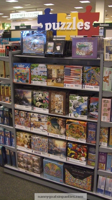 puzzles at the maui Barnes and Noble