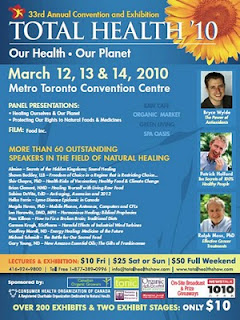 Total Health 2010 Poster: 33nd Annual Convention and Exhibition, Metro Toronto Convention Centre March 12, 13, 14, 2010