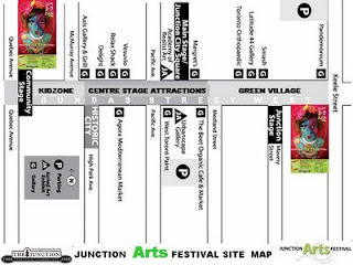 Toronto Junction Arts Festival 2008: Site Map, by artjunction.blogspot.com