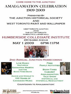 Poster: West Toronto Junction Amalgamation Celebration: 1909 - 2009: Reliving the Historic Night of 1909